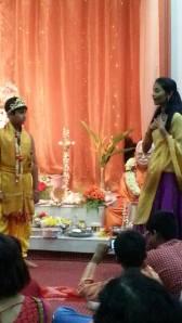 Holika plotting with Hiranyakashipu