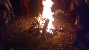 The burning of Holika