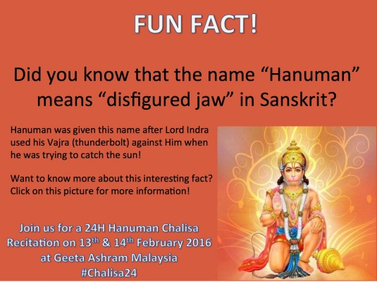 hanuman disfigured jaw